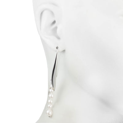 Michelle<br/>Linear Earring with Pearls