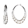 Michelle<br/>Wrapped Pearl Hoop Earring