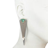 Kylie<br/> Flat Front Back Earring with Stone