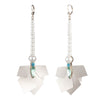 Kylie<br/> Long Linear Sequin Earring with Pearl
