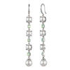 Marlene<br/> Linear Pearl and Stone Wire Earring