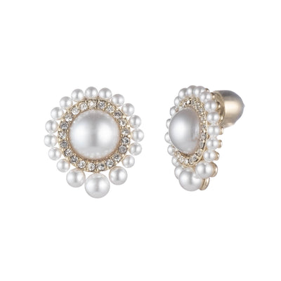 Cindy<br/> Graduated Pearl Small Stud Earring