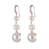 Freshwater Pearl<br/> Triple Drop C Earring