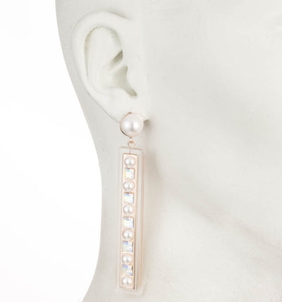 Roisin<br/> Linear Resin Drop Earring