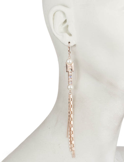 Roisin<br/> Chain and Resin Linear Earring