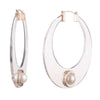 Roisin<br/> Extra Large Resin Hoop Earring