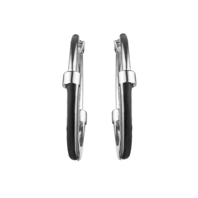 Dita<br/> Small Leather Hoop Earring