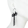 Dita<br/> Extra Large Leather Hoop with Bow Detail  Earring