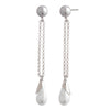 Sara <br/>XL Long Linear Pearl Drop Earring