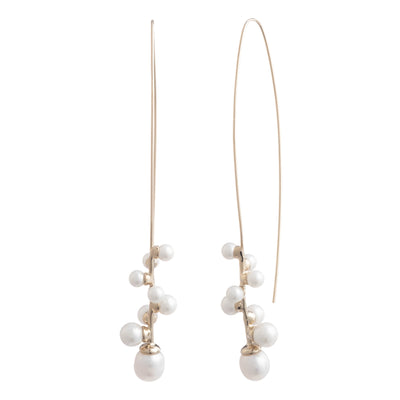 Eva<br/> Spiral Elongated Earring