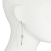 Eva<br/> Elongated Silver Earring