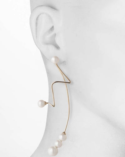 Eva<br/> Spiral Wire Jacket Earring