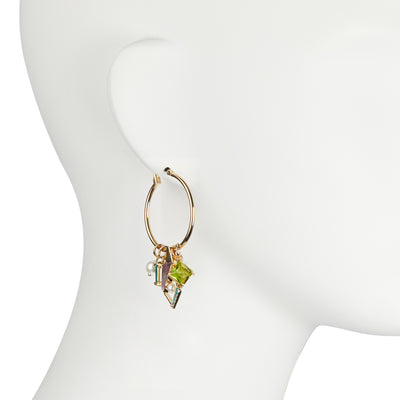 Florence <br/>Pendant Hoop with Charm Earring