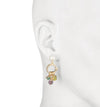 Florence <br/>Small C Hoop with Charm Earring