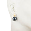 Alice<br/>Triangle Spike 18mm Pearl Earring