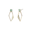 Flora <br/> Small Double Drop Stone Earring