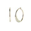 Flora <br/> Thin Hoop Pave Stones Earring