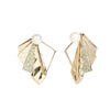 Flora <br/> Fanning Pearl and Pave Jacket Earring