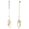 Flora <br/> Long Linear with Geometric Drop Earring