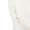 Alice<br/>Triangle Spike 10mm Pearl Earring