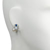 Selene <br/> Stone Cluster with Freshwater Pearl Back Earring