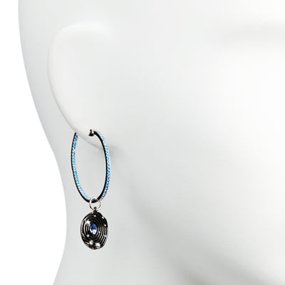 Selene <br/> Mismatched Hoop Drop Earring