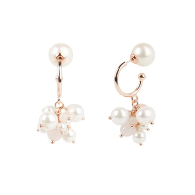 Athena <br/> Cluster Pearl Drop Earring