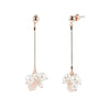 Athena <br/> Linear Drop Cluster Pearl Earring