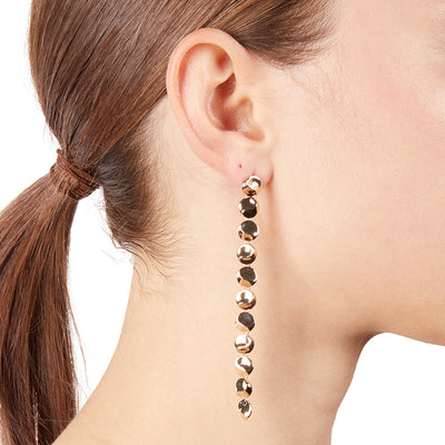 Iris <br/> Mini Linear Disc Earring