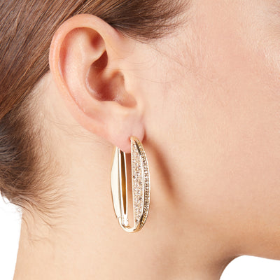 Diana<br/> Hinged Pave Link Earring