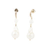 Diana<br/> Quartz and Baroque Pearl Drop Earring