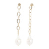 Diana<br/> Linear Baroque Pearl Earring