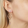 Rose<br/>  Interlocking Pave Ring Earring