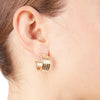 Kate <br/> Herringbone Hoop Earring