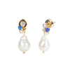 Dona <br/>Freshwater Pearl Cluster Drop Earring