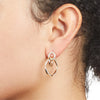River<br/> Mini Interlocking Hoops Earring