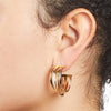 River<br/> Multi Ring Hoop Earring