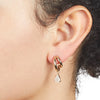 Eden<br/> Double Hoops with Rose Quartz Earring