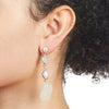 Eden<br/> Agate and Quartz Drop Earring