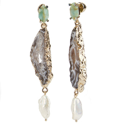 Eden<br/> Agate Drop Earring