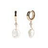 Cleo <br/>Huggie Hoop with Agate Drop Earring