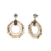 Cleo <br/>Sculptural Hoop with Semi Earring