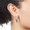Cleo <br/>Sculptural Stud with Pave Earring