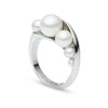 Michelle<br/>Metal and Pearl Ring