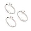 Freshwater Pearl<br/> Stackable Ring Set of 3