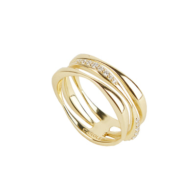 River<br/> Wavy Multi Band Ring