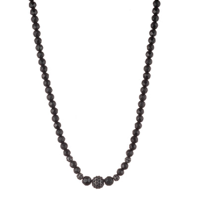 Jet Crystal</br> Fireball Necklace