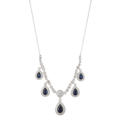 "16"" Frontal<br/> Pear Drop Necklace"