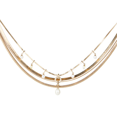 Kate<br/> Layered Herringbone Necklace