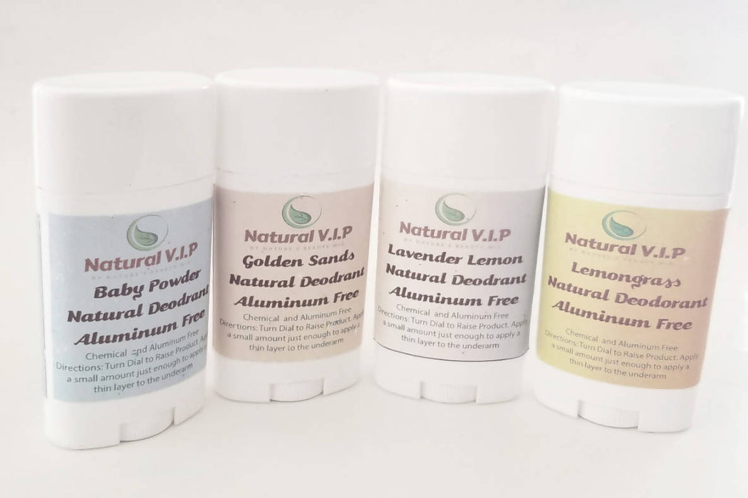Natural Deodorant in Four Scents